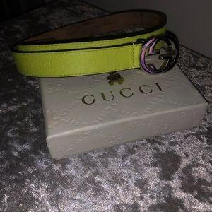 63b102715390 Children s Gucci Neon Belt